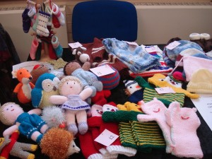 Toys for sale at the craft fayre